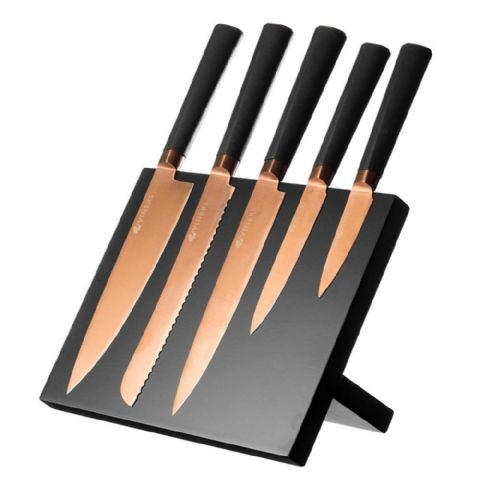 Viners Magnetic Copper Knife Block